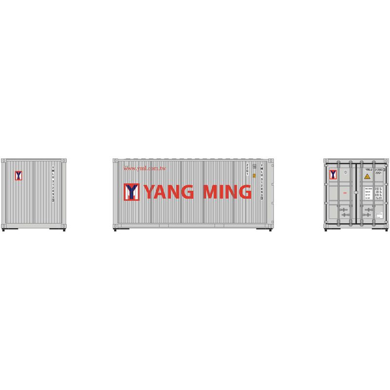 HO RTR 20' Corrugated Container YMLU (3)