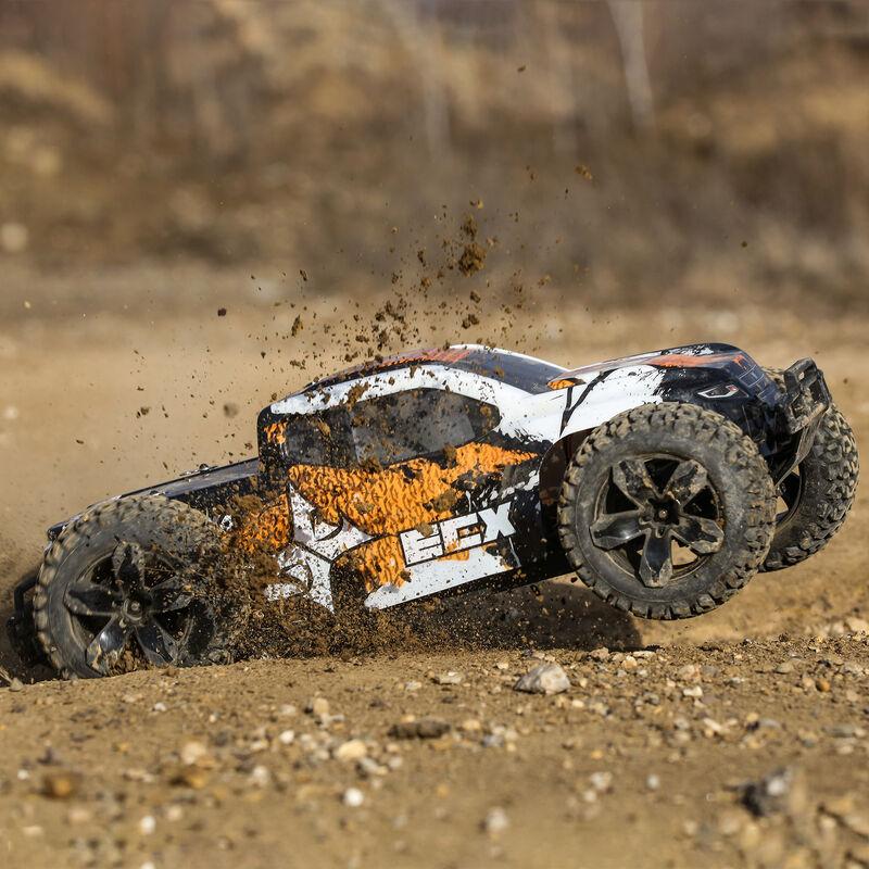 1/10 Ruckus 4WD Monster Truck Brushed RTR, Orange/White