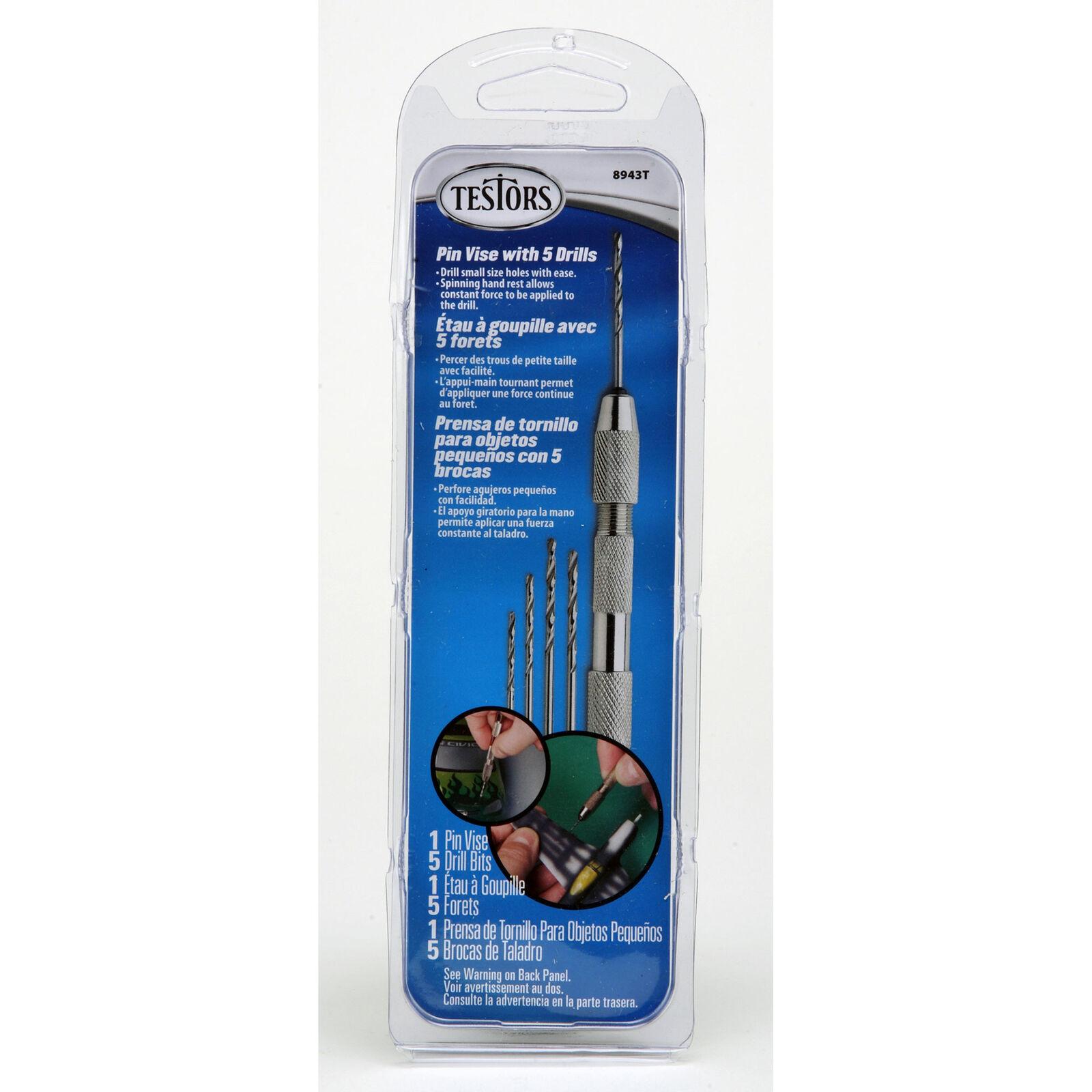 Pin Vise & 5 Drill Bits Tool