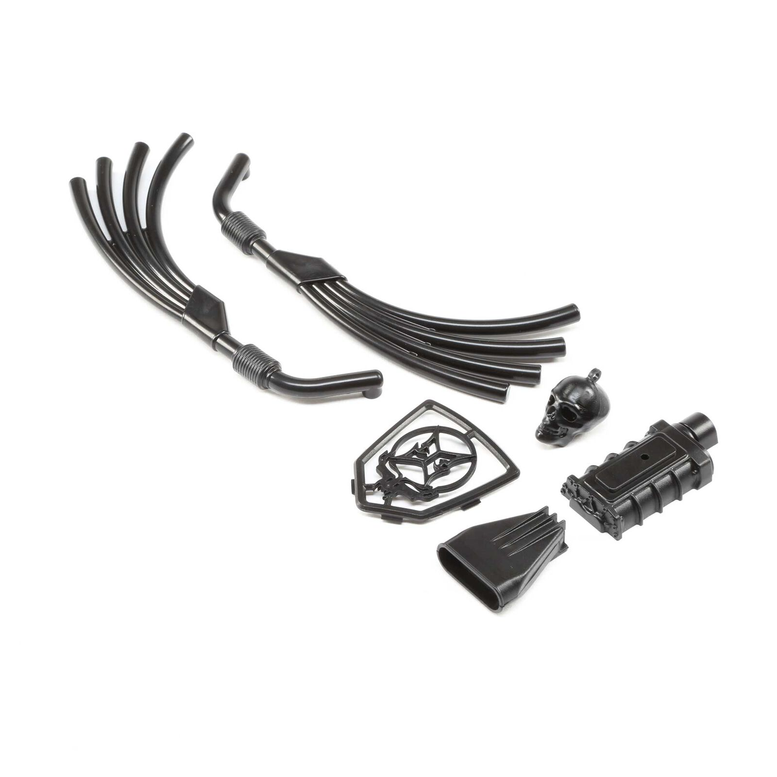 Motor, Exhaust and Grill Parts, Black: Doomsday