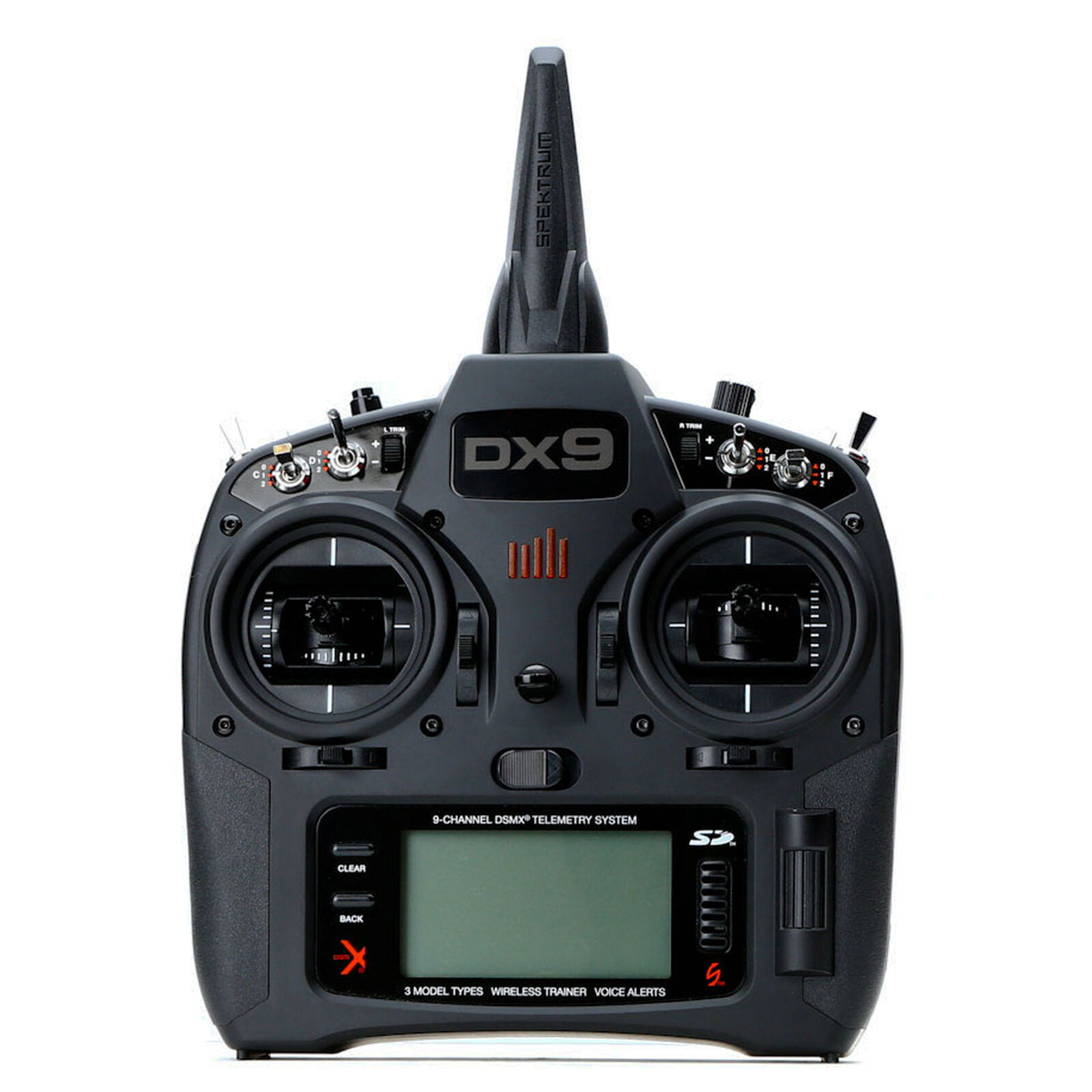 DX9 Black 9-Channel DSMX Transmitter Only