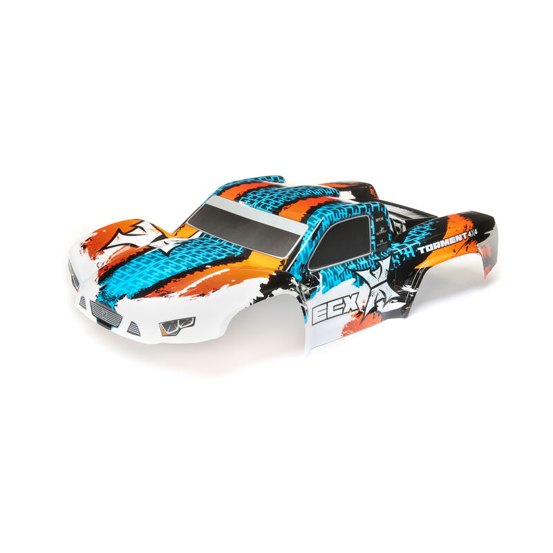 1/10 Painted Body, Orange/Blue: 4WD Torment