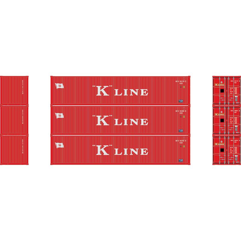 N 40' Corrugated Low-Cube Container, K Line #1 (3)