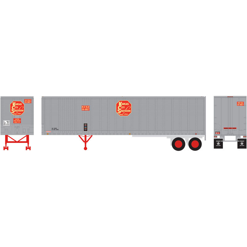 HO RTR 40' Fruehauf Z-Van Trailer KCS #20-5027