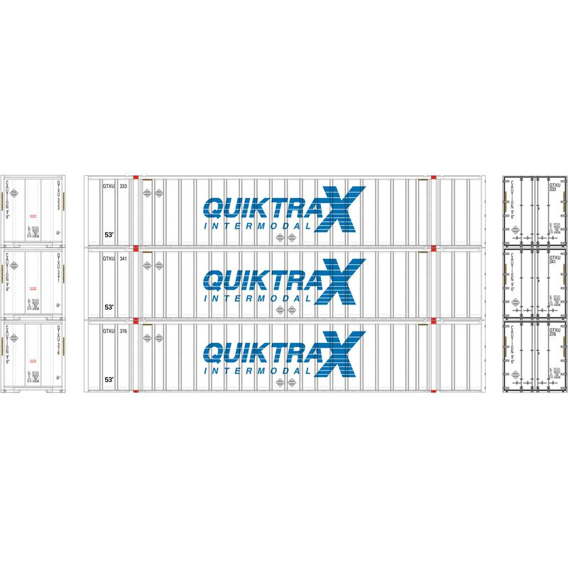 HO RTR 53' Stoughton Container, QuikTrax (3)