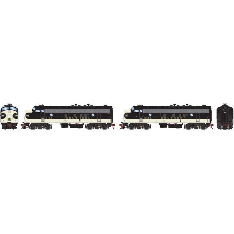 HO FP7A FP7A with DCC & Sound SOU Black #6148F #6146L