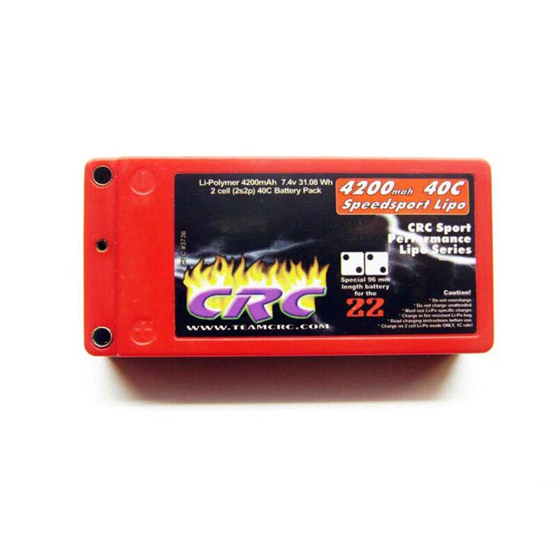 7.4V 4200mah 2S 40C Speedsport Shorty Hardcase Lipo Battery: Tubes, 2mm