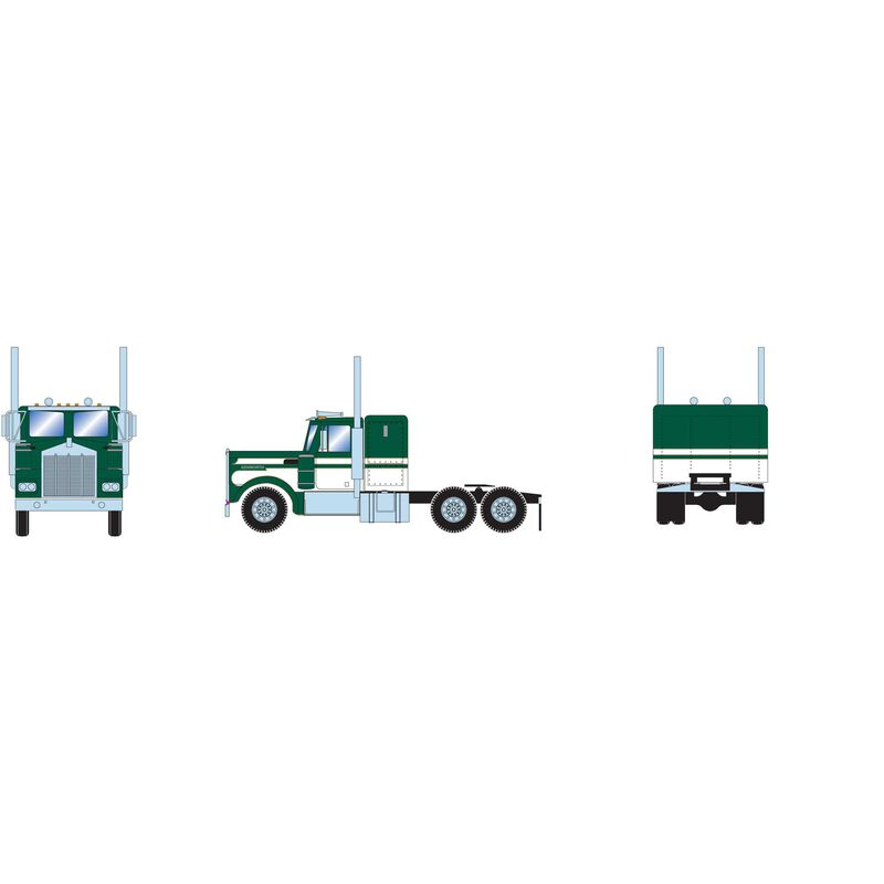 HO RTR Kenworth Tractor, Green/White