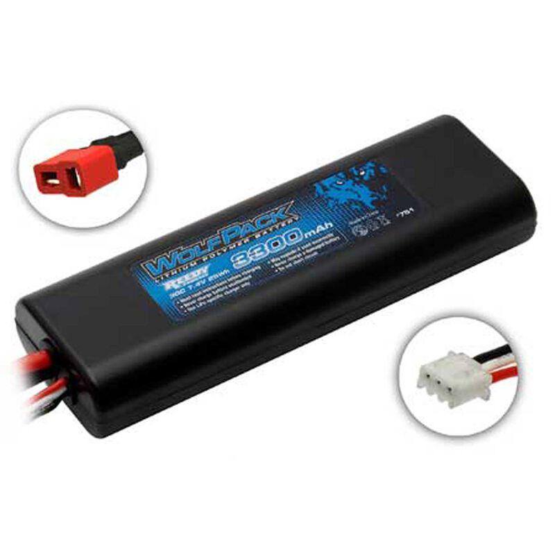 7.4V 3300mAh 2S 30C Reedy WolfPack LiPo Battery: T-plug