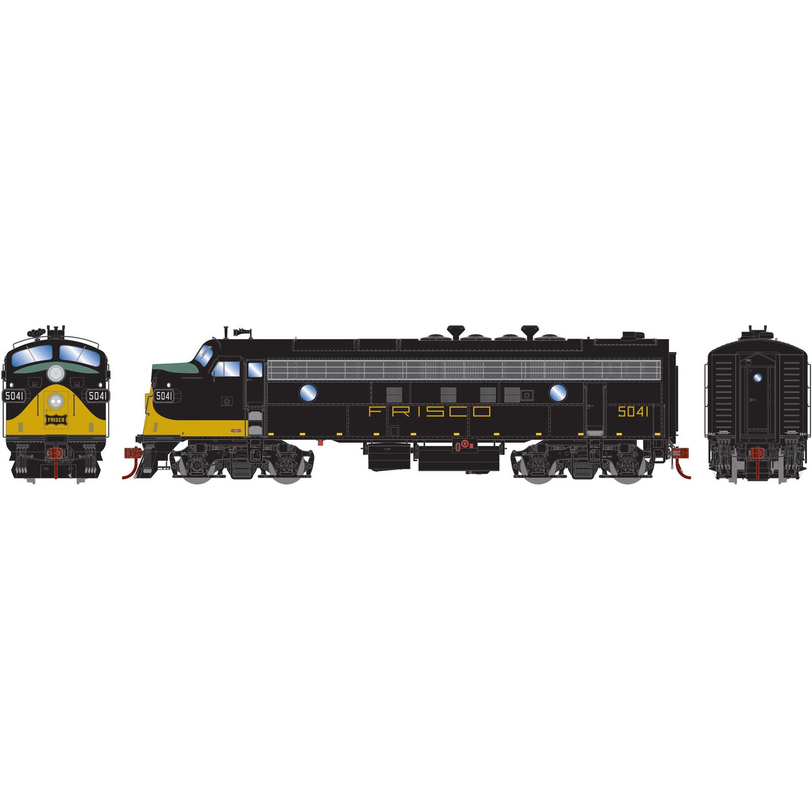 HO FP7A with DCC & Sound SLSF Black & Yellow #5041
