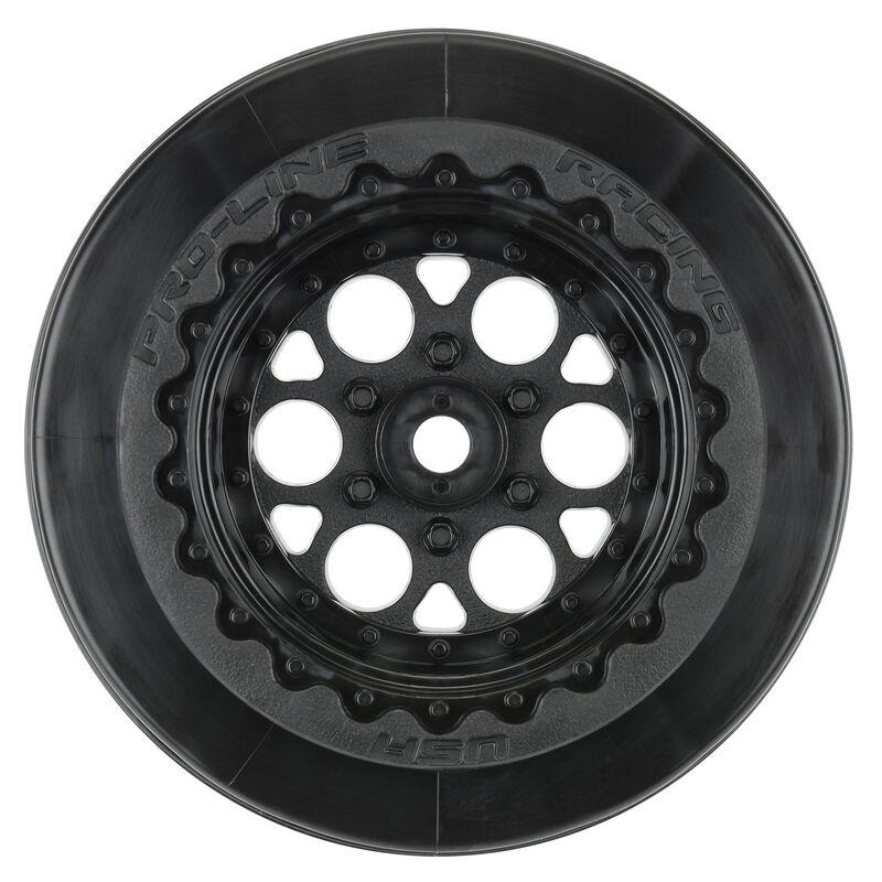 "1/10 Showtime+ Wide Rear 2.2""/3.0"" 12mm Drag Wheels (2) Black"