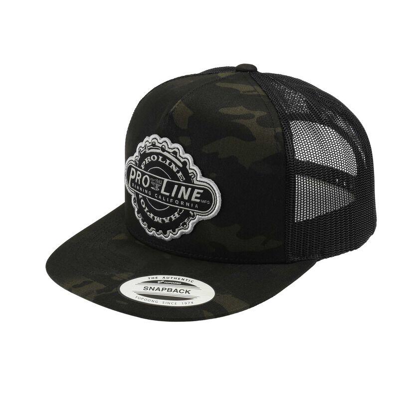 Manufactured Dark Camo Trucker Snapback Hat
