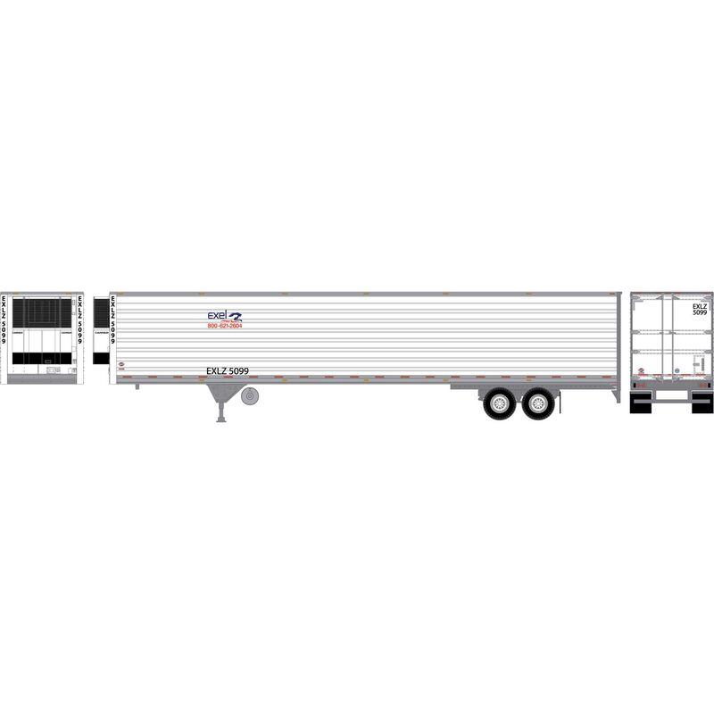 HO RTR 53' Utility Reefer Trailer Excel Truck#5099