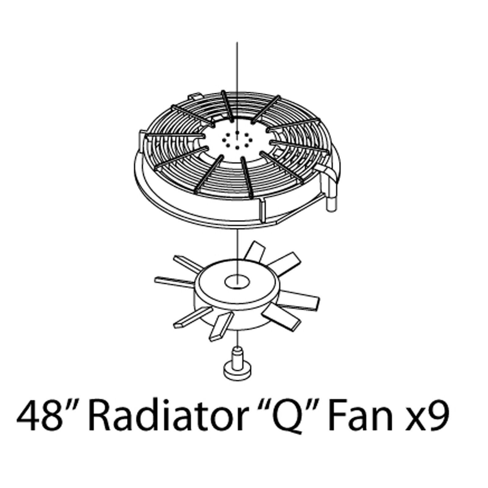 """HO Fans Set, SD70/""""Q"""" (3)"""