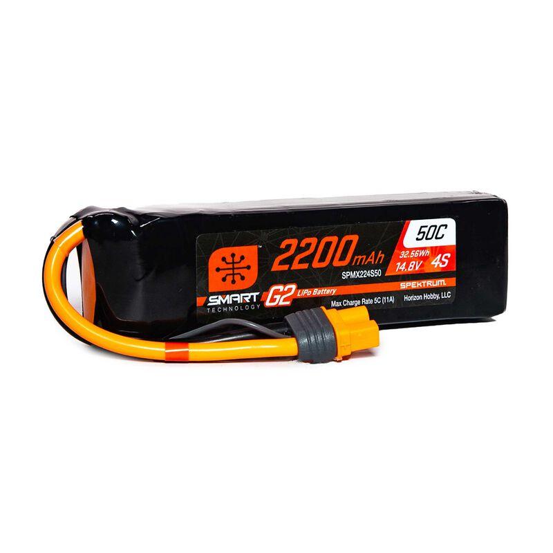 14.8V 2200mAh 4S 50C Smart LiPo G2: IC3