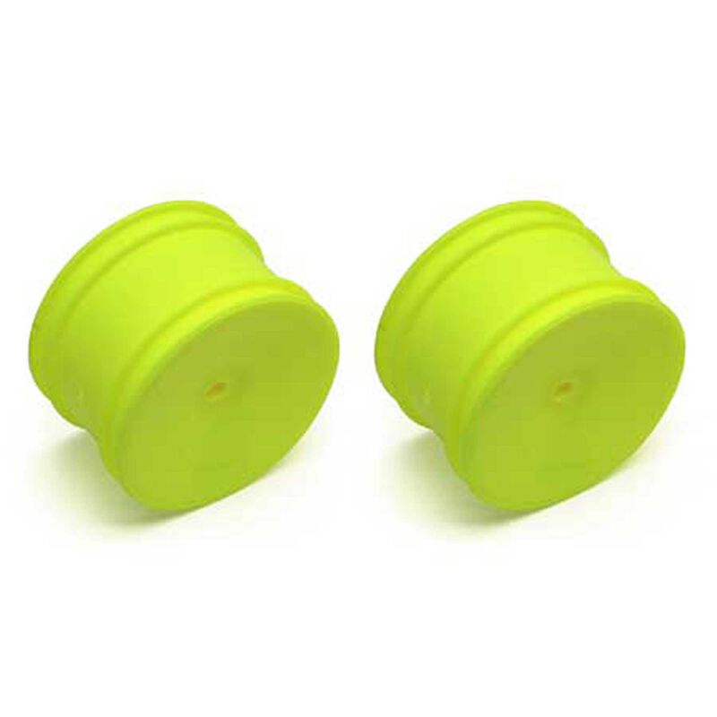 1/10 Rear 12mm Hex Wheels, Yellow (2): Buggy