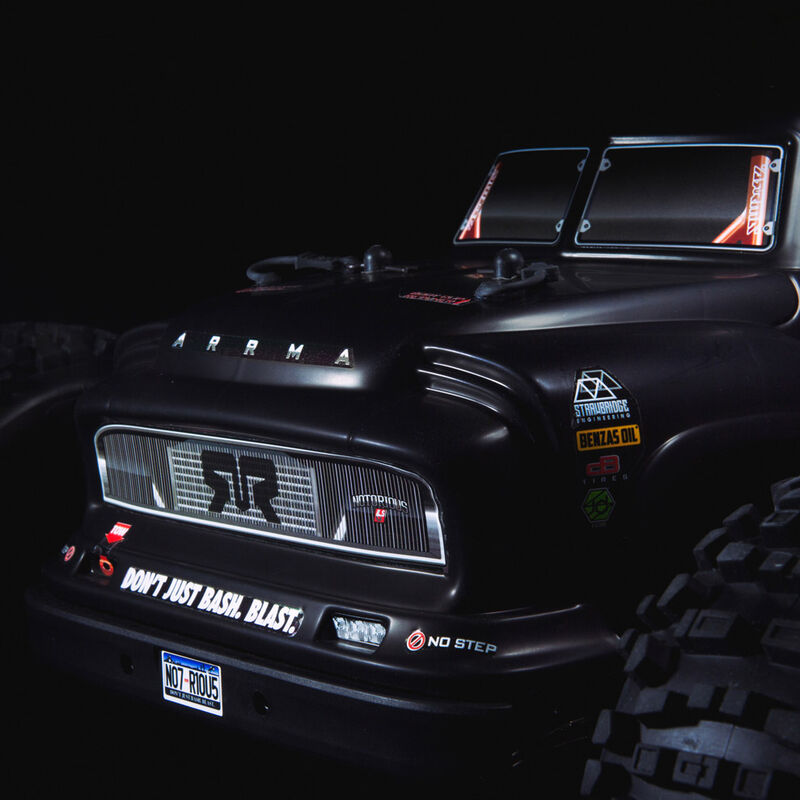1/8 NOTORIOUS 6S BLX 4WD Classic Stunt Truck RTR, Black