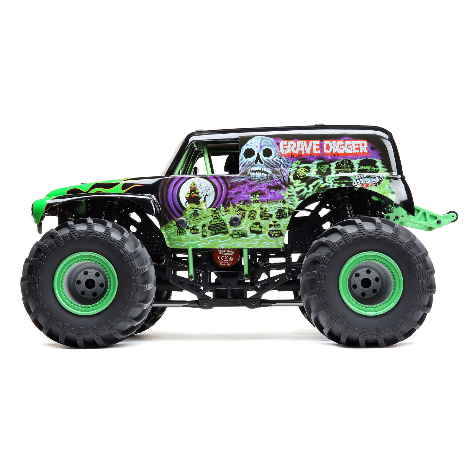 LMT 4WD Solid Axle Monster Truck RTR, Grave Digger