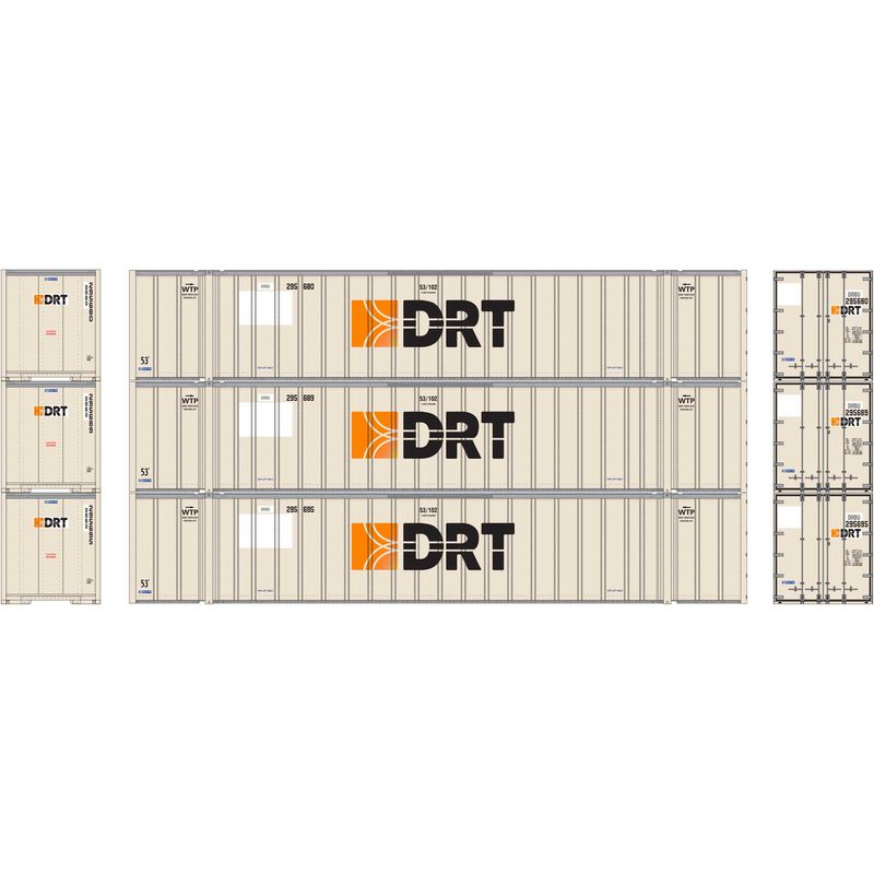 HO RTR 53' Stoughton Container, DRT (3)