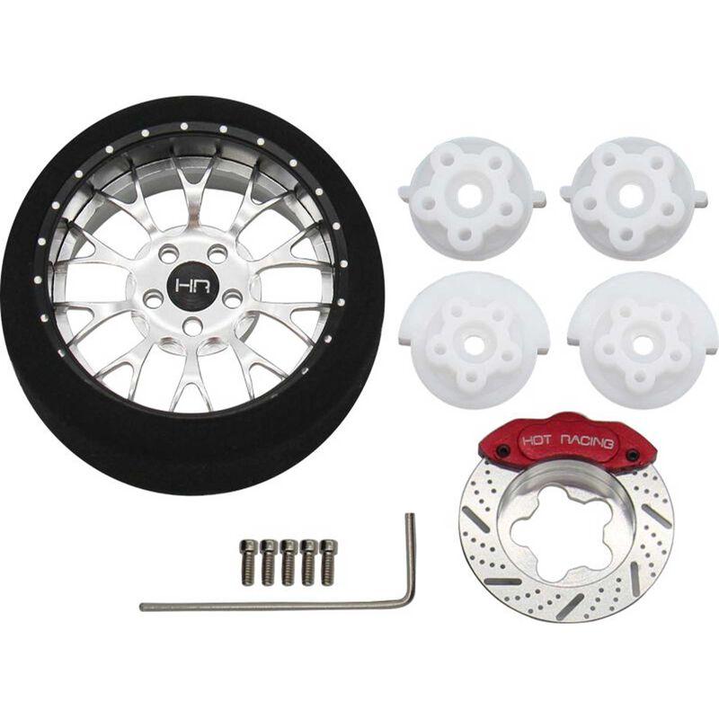 Silver 10-Y Spoke BBS Aluminum Steering Transmitter Wheel