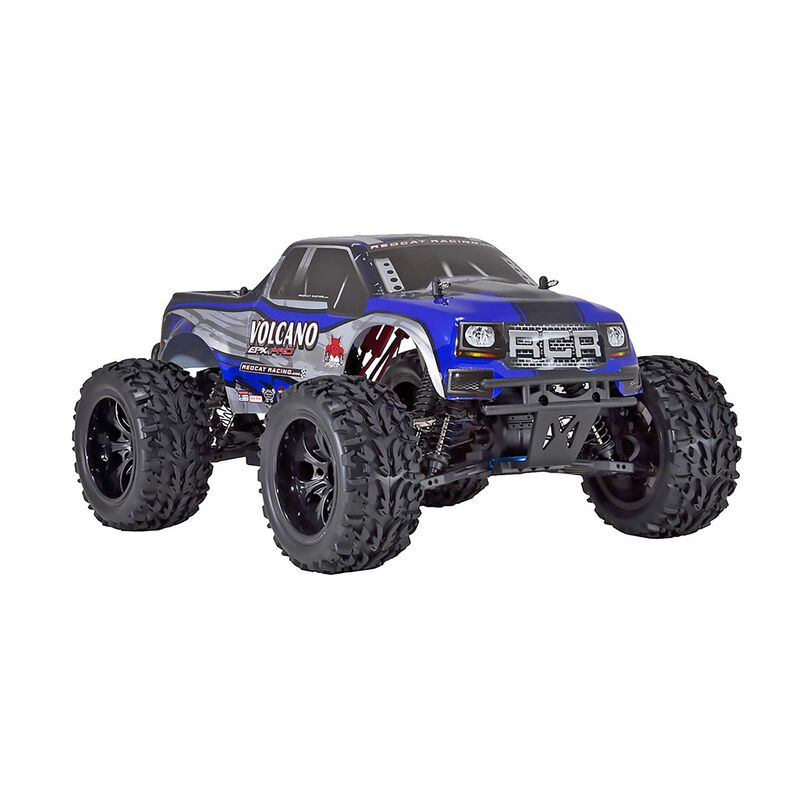 1/10 Volcano EPX PRO 4WD Monster Truck Brushless RTR, Blue/Silver