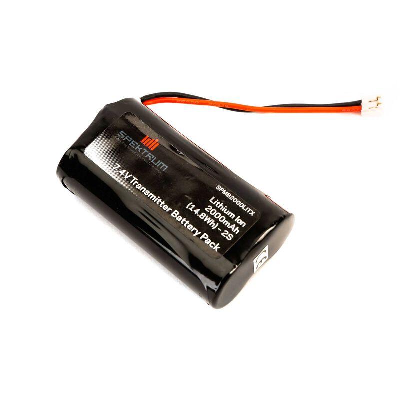 7.4V 2000mAh 2S Li-Ion Transmitter Battery