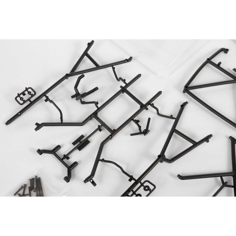 Roll Cage Set with Clear Inner Bed Panels: 1955 Ford F-100