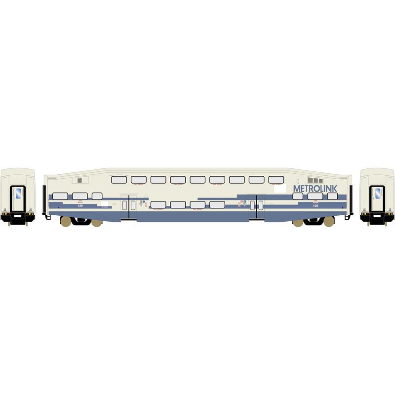 HO RTR Bombardier Coach, Metrolink #129