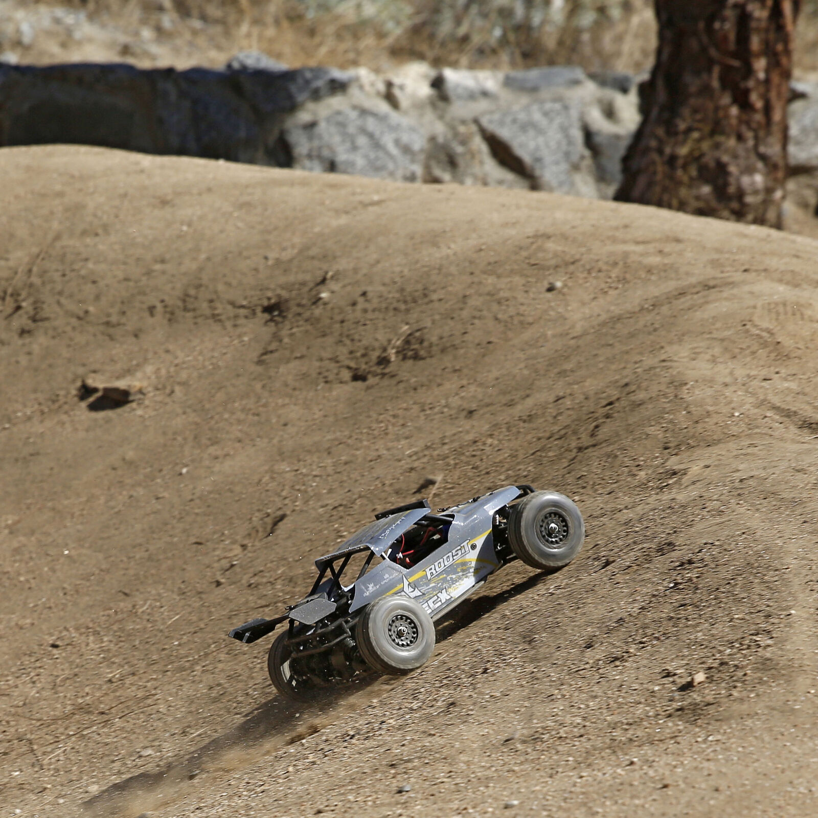 1/18 Roost 4WD Desert Buggy Brushed RTR, Grey/Yellow