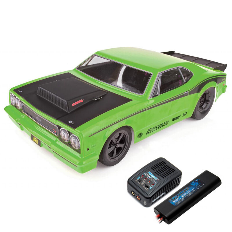 1/10 DR10 2WD Drag Race Car Brushless RTR, Green, LiPo Combo