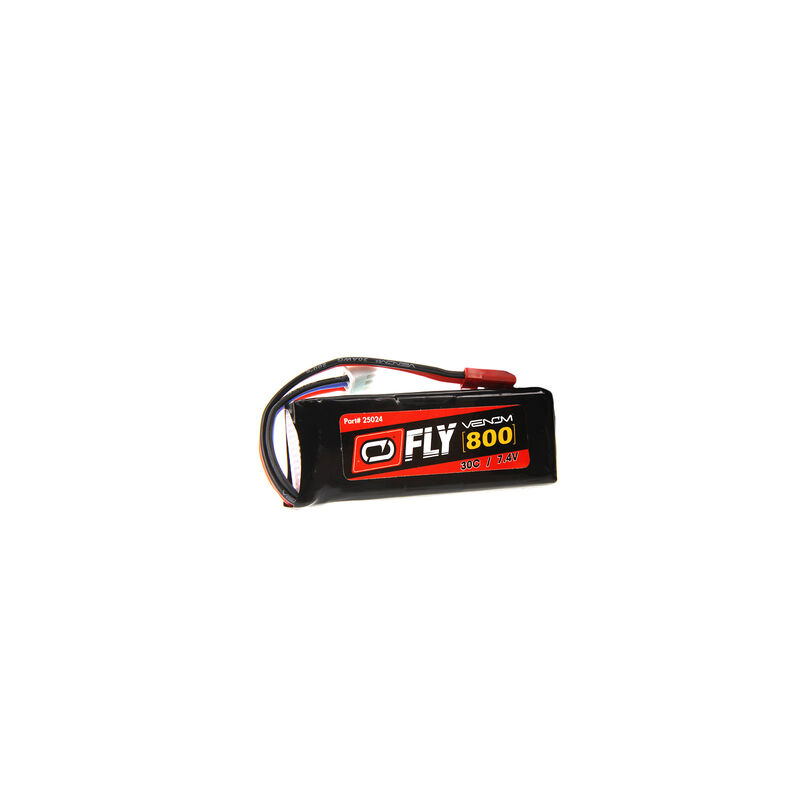 7.4V 800mAh 2S 30C FLY LiPo Battery: JST