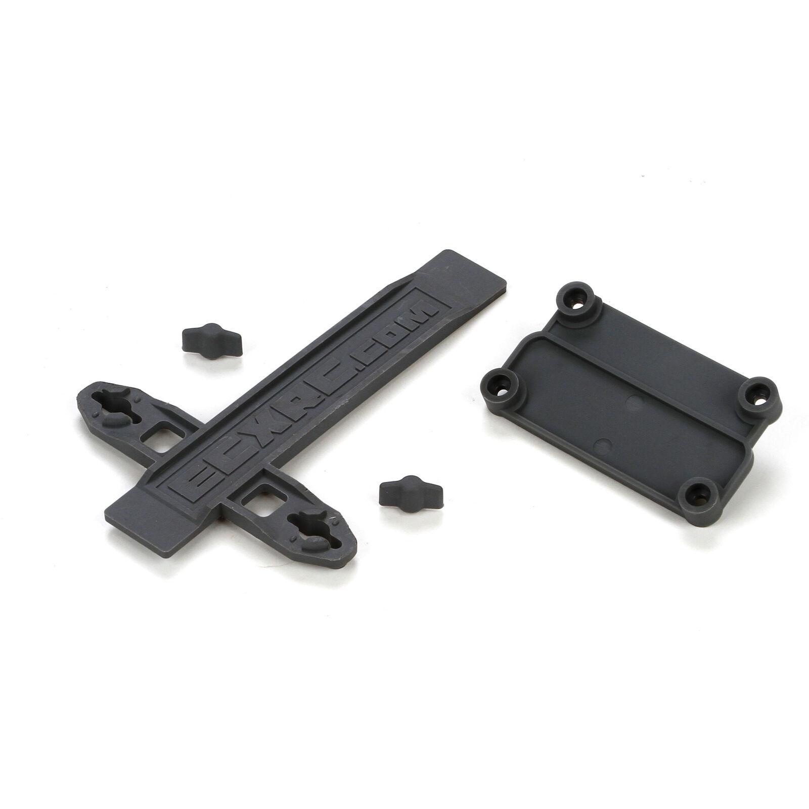 Battery Strap, ESC Plate: 1/10 2WD Ruckus, Torment
