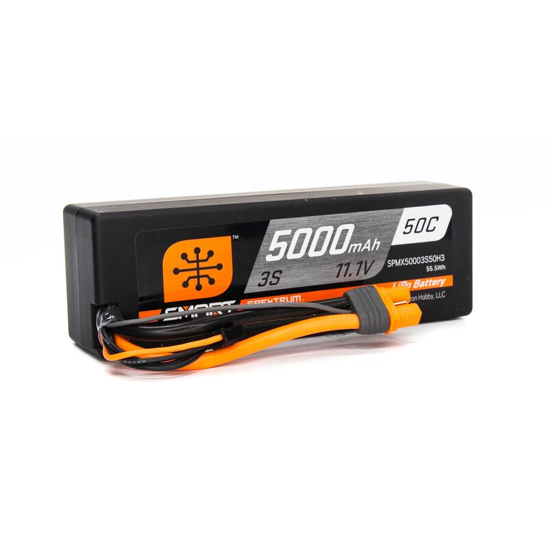 11.1V 5000mAh 3S 50C Smart Hardcase LiPo Battery: IC3
