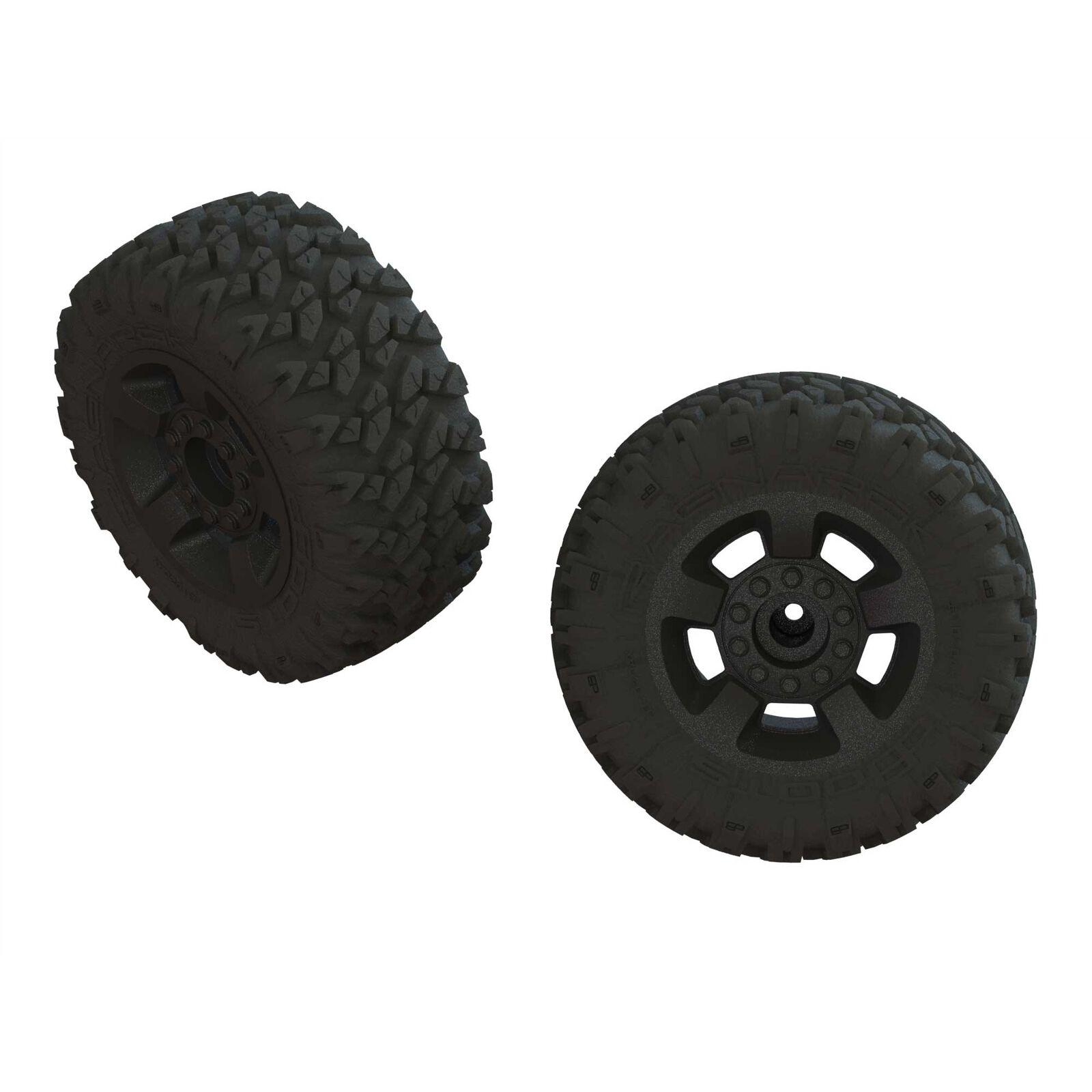 1/8 dBoots RAGNAROK MT Front/Rear 2.8 Pre-Mounted Tires, 14mm Hex, Black (2)