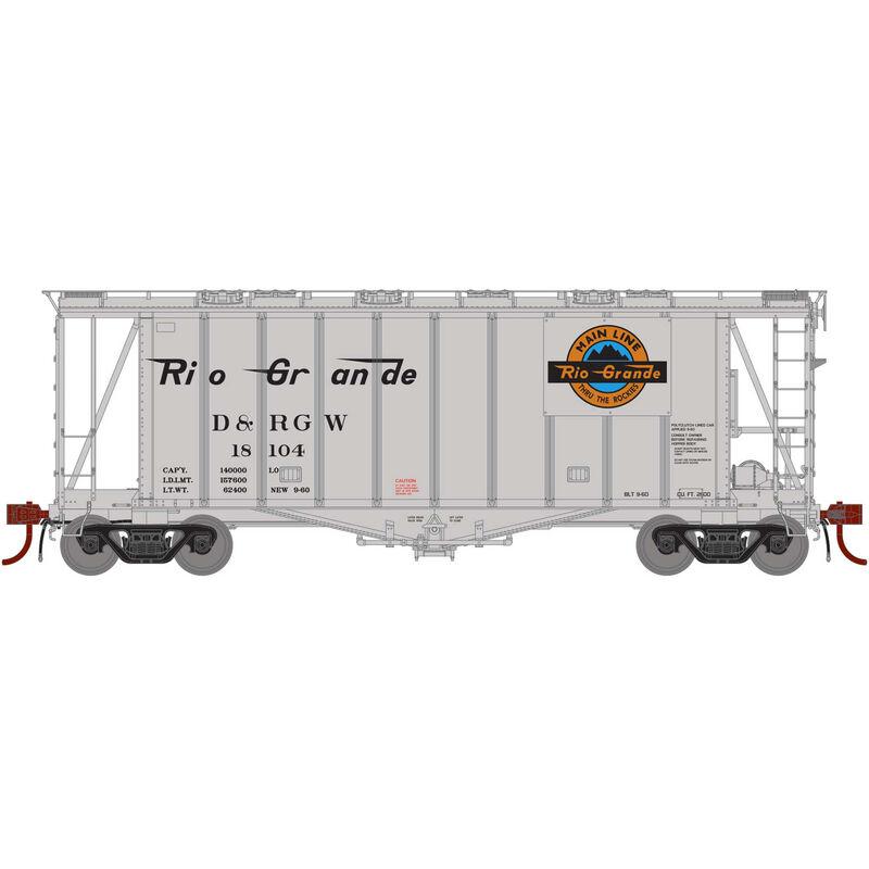 N GATC 2600 Airslide Hopper D&RGW #18104
