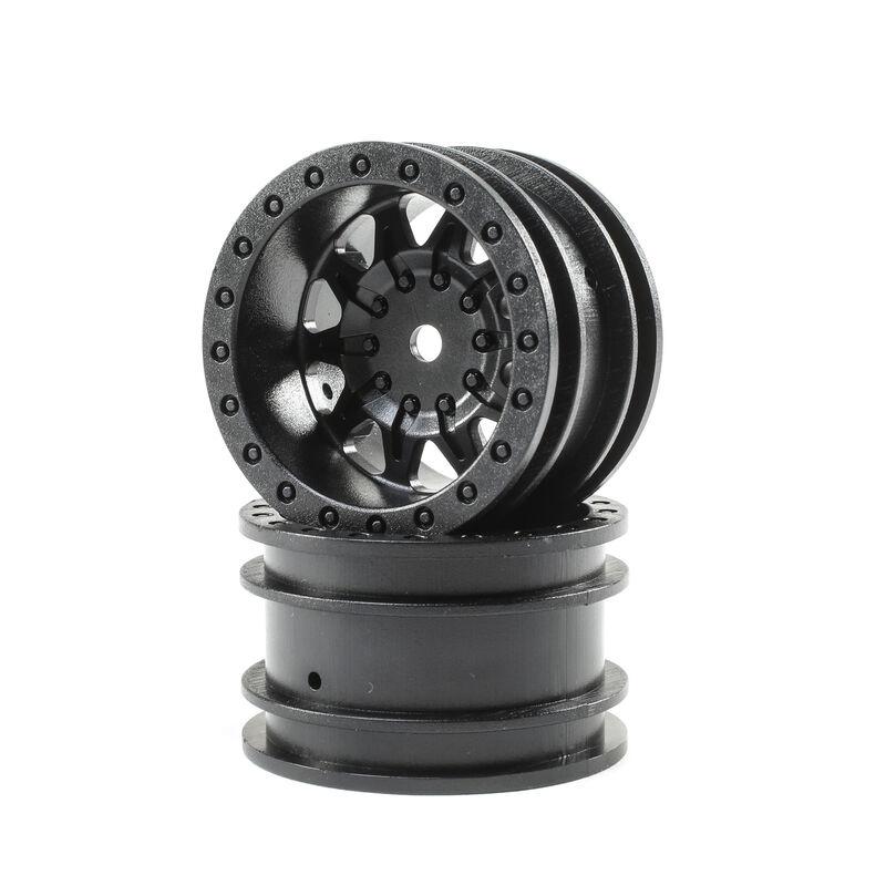 1.55 Wheels, Black (2): Barrage 2.0