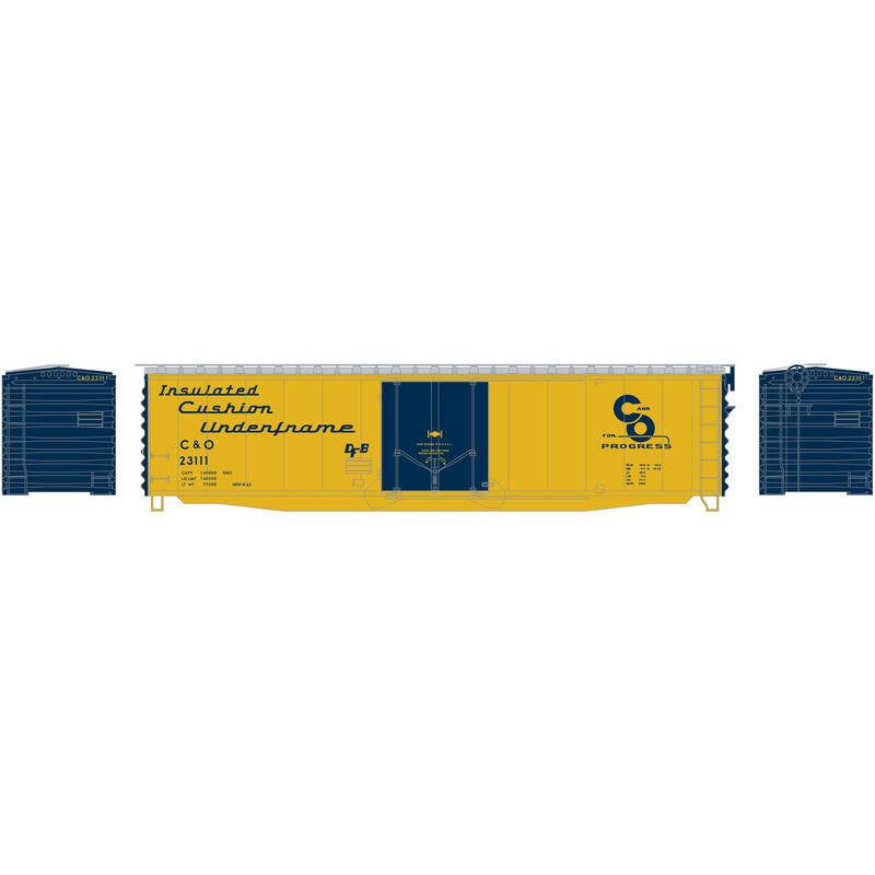 N 50' PS-1 Plug Door Smooth Side Box C&O #23111