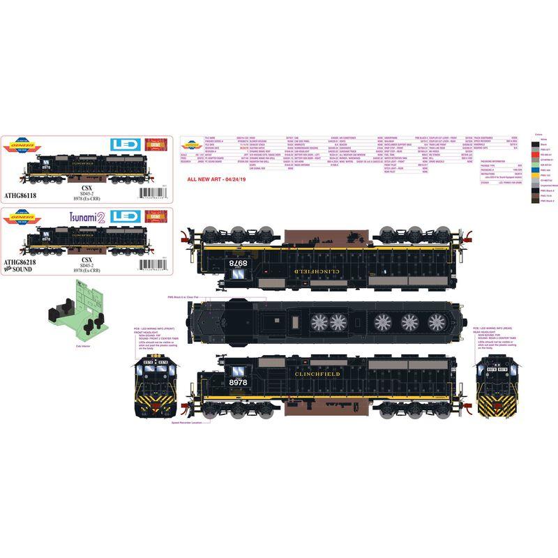 HO SD45-2 CSX ex CRR #8978