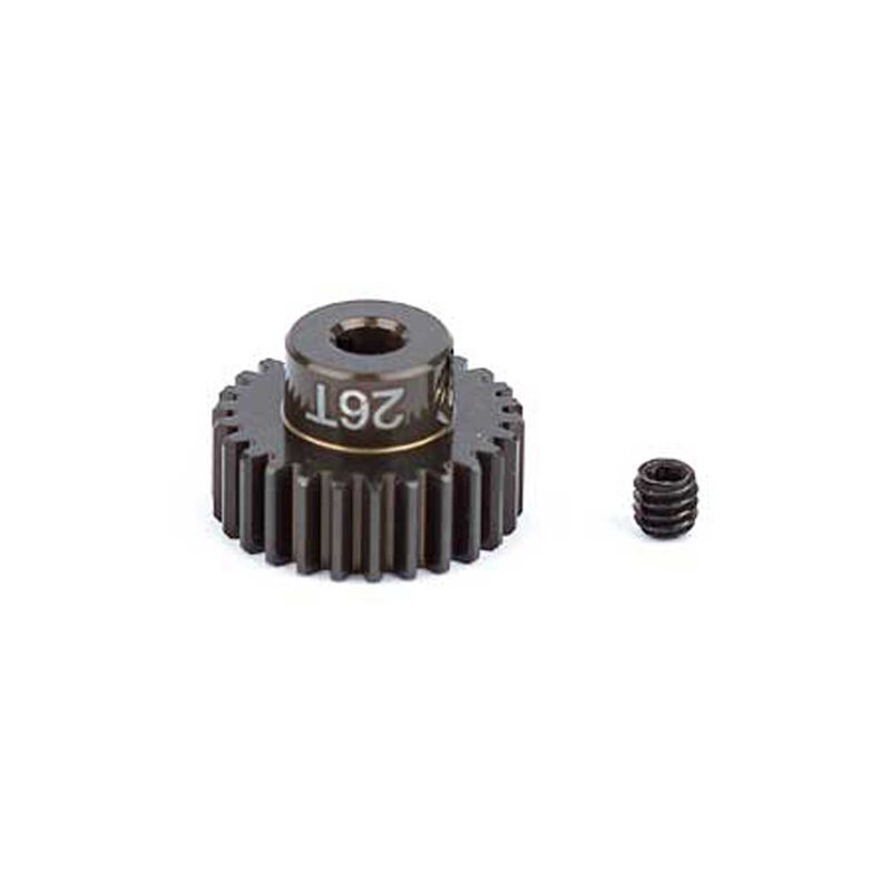 Factory Team Aluminum Pinion Gear, 26T, 48P, 1/8 shaft
