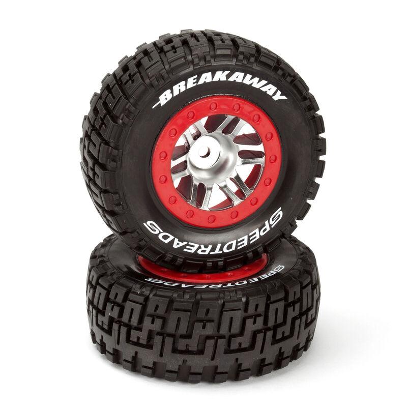 SpeedTreads Breakaway SC Tires Front Mounted (2): Traxxas Slash