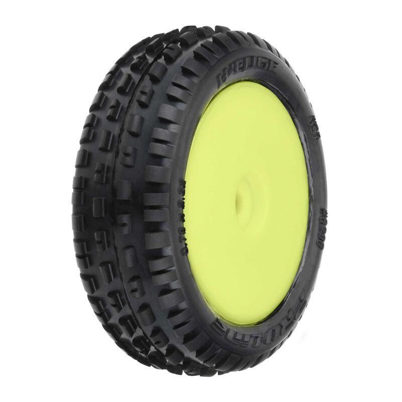 Wedge Carpet Mounted Front Tires, Yellow: Mini-B