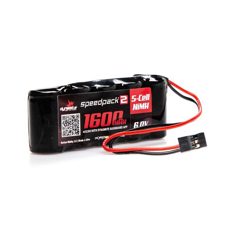 Speedpack2 6V 1600mAh 5C NiMH, Flat Receiver Pack