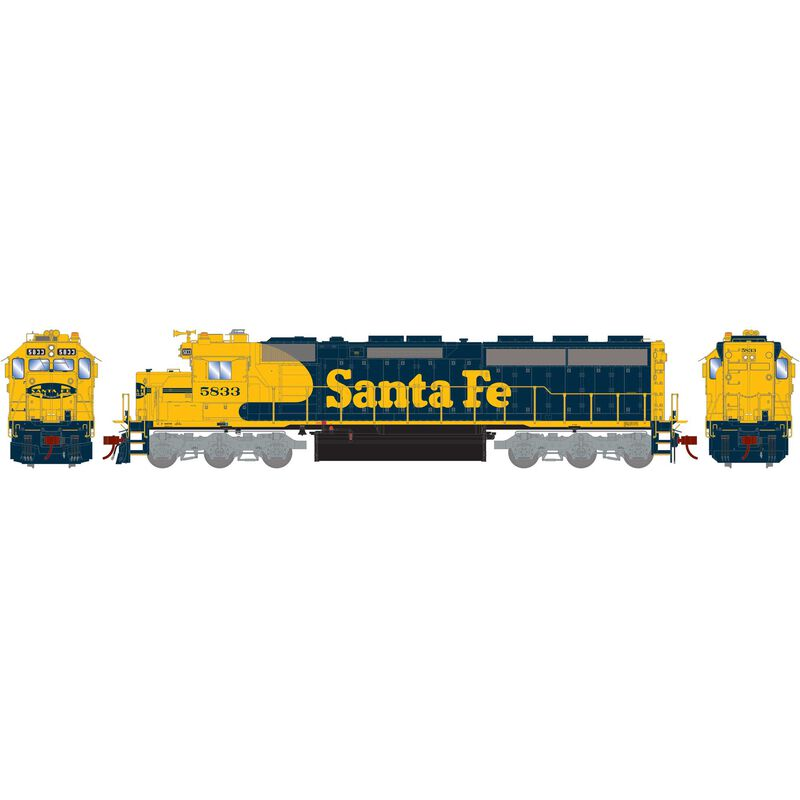 HO SD45-2 with DCC & Sound, SF Freight #5833