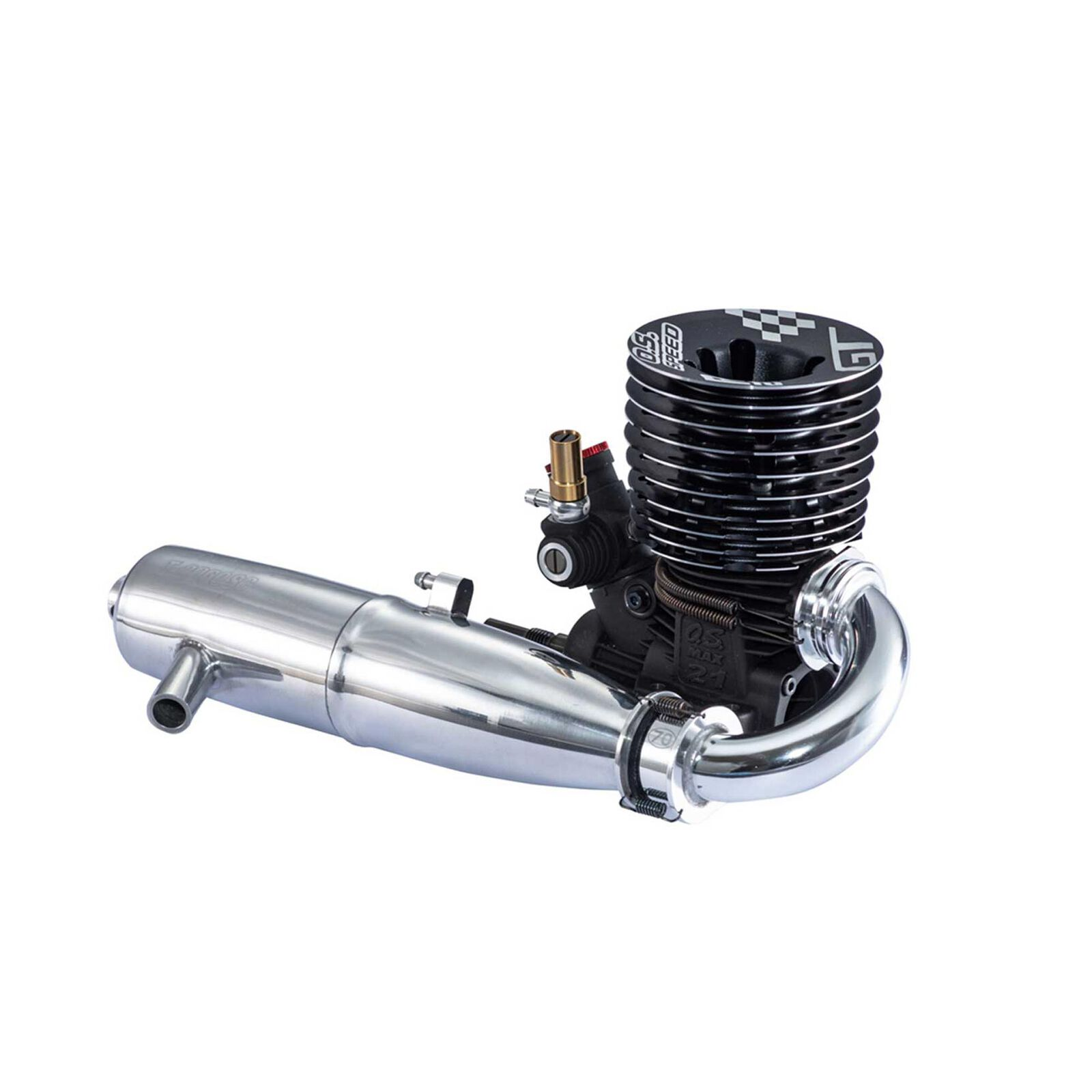 O.S. Speed R21GT 1/8 GT Engine with T-2060SC Pipe
