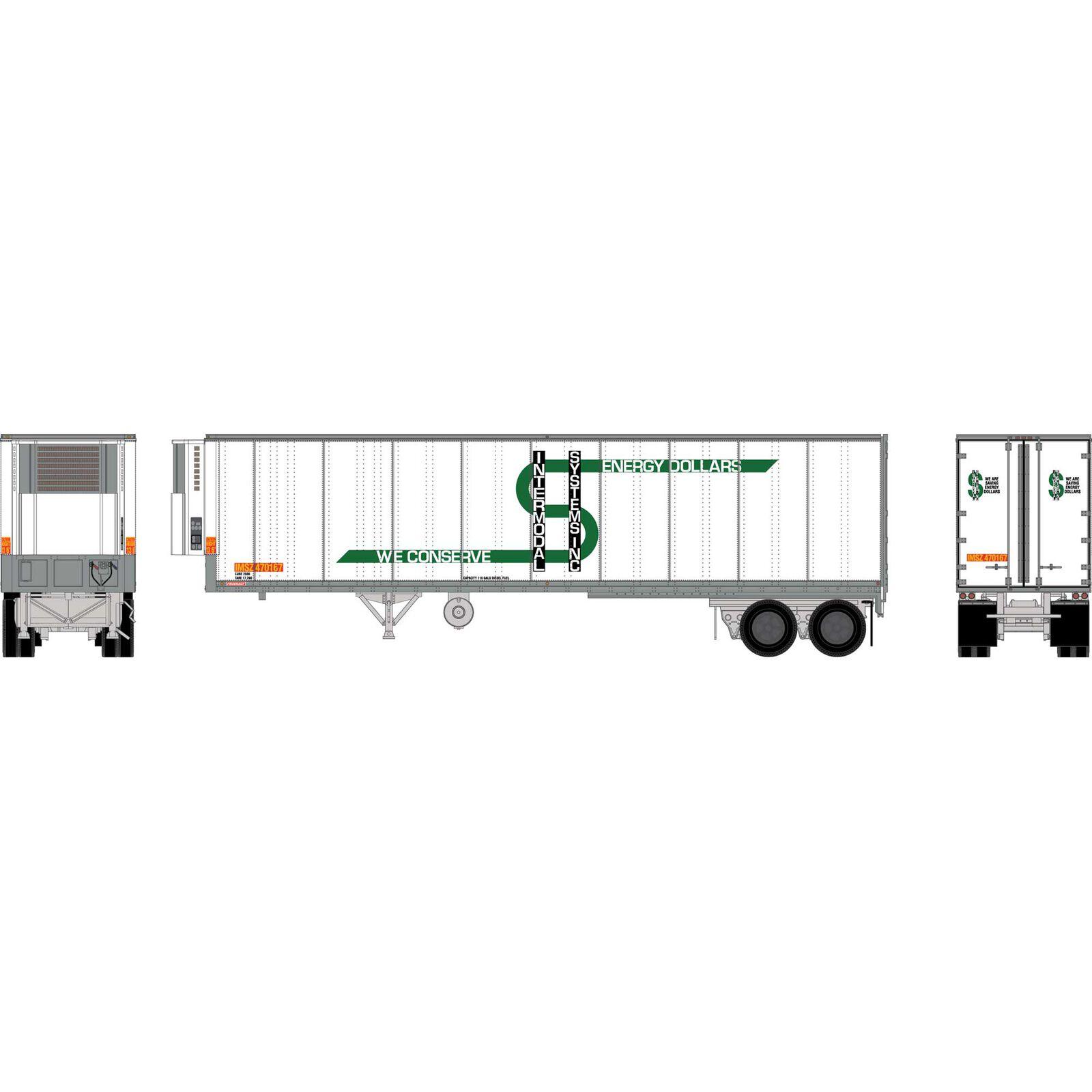 HO RTR 40' Fruehauf Z-Van Trailer, IMSZ #470167