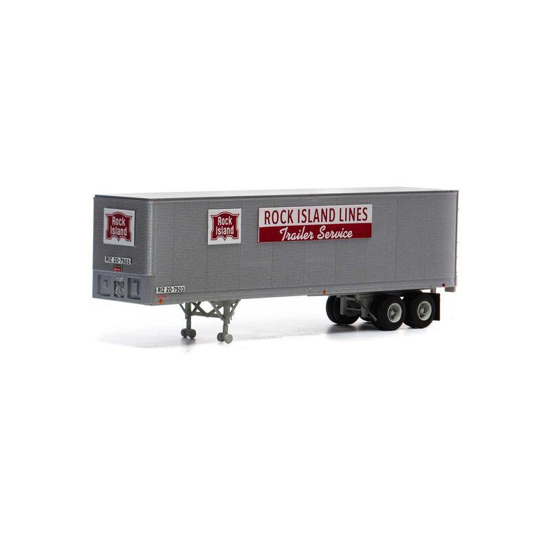 HO RTR 40' Fruehauf Z-Van Trailer RI #20-7503