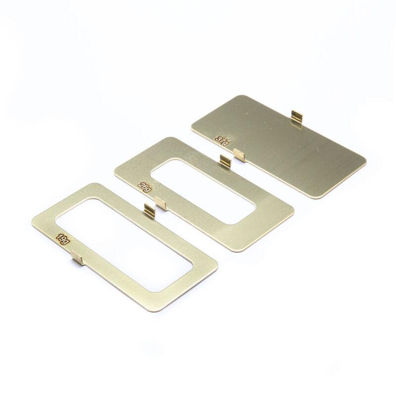Brass Battery Weight Set - 18g, 25g, 36g