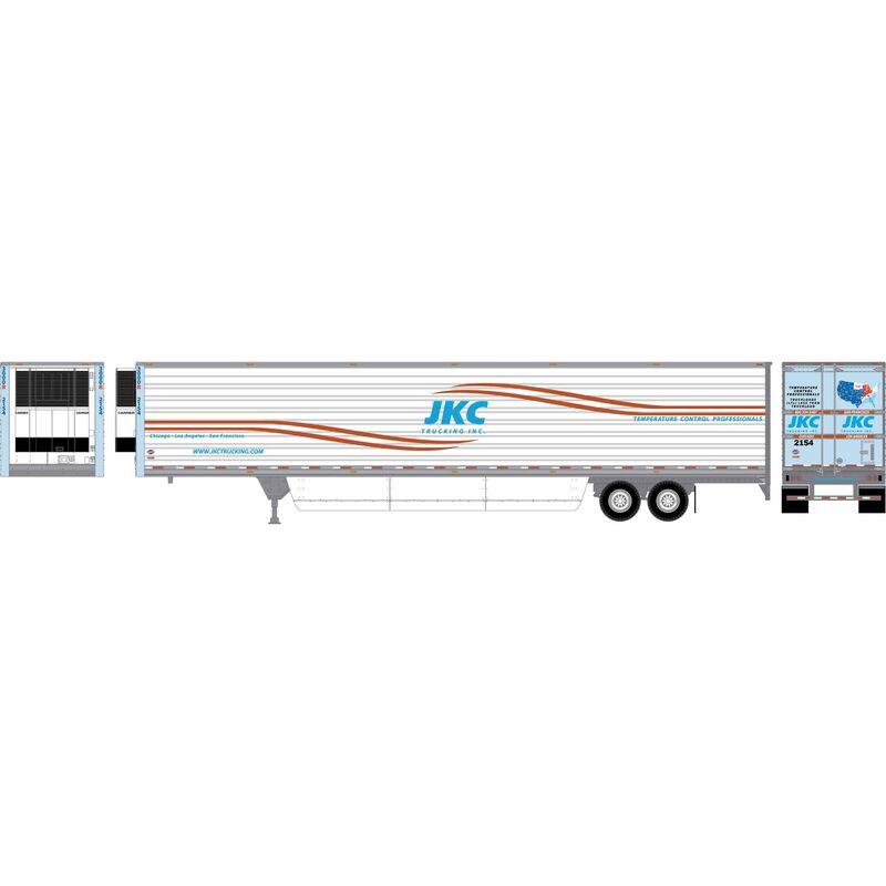 HO RTR 53' Utility Reefer Trailer JKC Trucking#2154