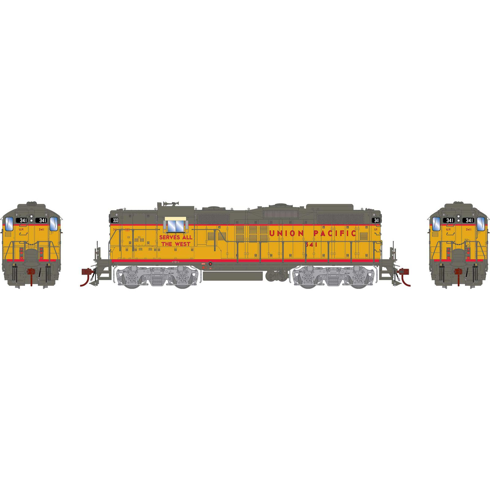 HO GP9 Phase III with DCC & Sound, UP #341