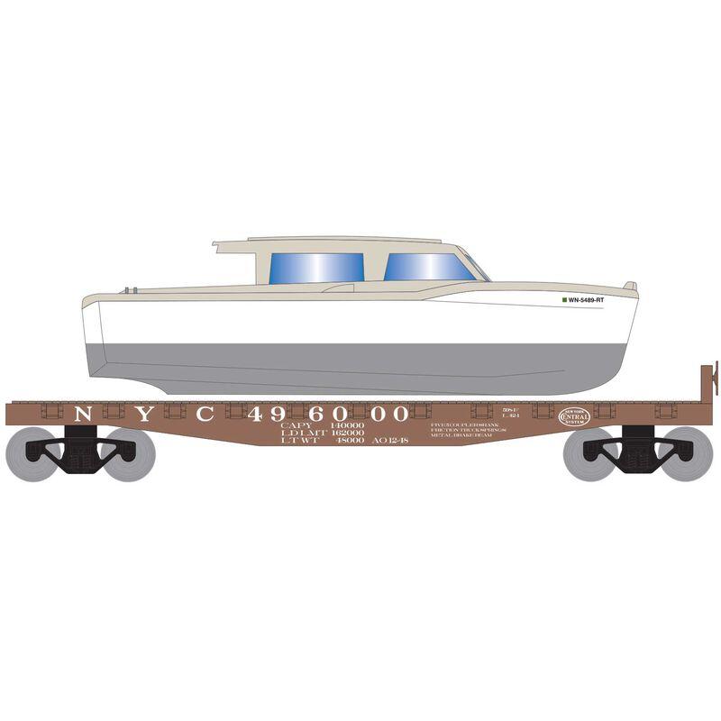 HO 40' Flat w White Boat NYC #496000